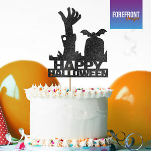 Custom HAPPY HALLOWEEN Zombie GLITTER CAKE TOPPER Party Cake