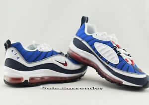 Details about Nike Air Max 98 SIZE 14 640744 100 Gundam Retro OG Red Blue Obsidian USA QS