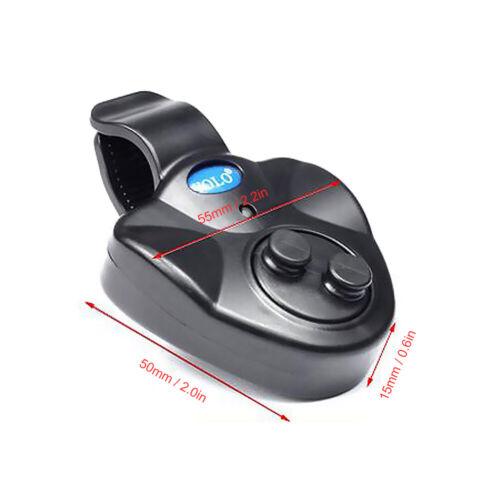2X YOLO Elektronisch Bissanzeiger LEDFisch Alarmglocke Licht/&Ton Bite Alarm F6T4