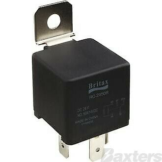 Britax 10 Pack Relay Mini  12V 40A Normally Open 5 Pin Resistor Protected