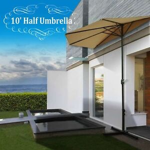 Image Is Loading New 10 039 Patio Half Umbrella Wall Balcony