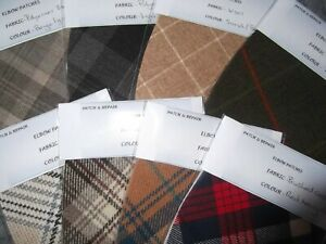 NEW  LIGHTWEIGHT FABRIC OVAL ELBOW PATCHES TRIMMINGS  IN UNUSUAL COLORS