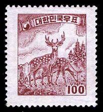 1955-56 KOREA #203D DEER - UNWATERMARKED - OGH - VF - CV$45.00 (ESP#1721)