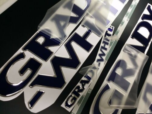 "FREE FAST delivery DHL express Grady-White boat Emblem 40/"" chrome deep blue"