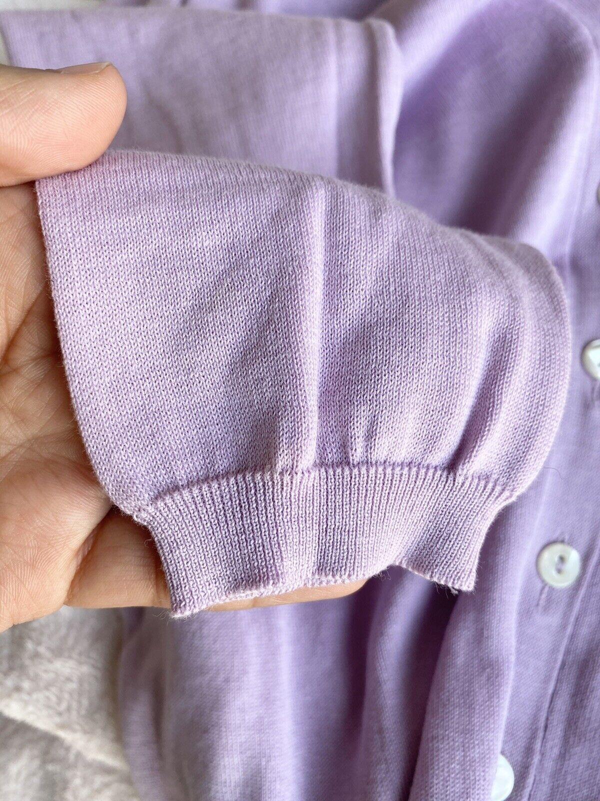 Malo Lilac Lightweight Cardigan Size 42 IT / US 6 - image 7