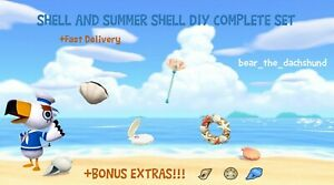 COMPLETE-Shell-and-Summer-Shell-DIY-Set-Animal-Crossings-New-Horizons