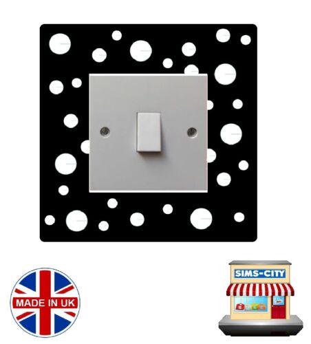 Élégant motif Interrupteur De Lumière Prise de courant Style Logo Autocollant Surround Vinyle SW110