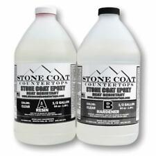 Stone Coat Countertops Epoxy 1 Gallon Kit Heat Resistant Resin Hardener Clear