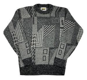 VTG-Le-Tigre-Herren-Strick-Pullover-Gr-XL-grau-Bill-Cosby-COOGI-90s-Made-in-USA