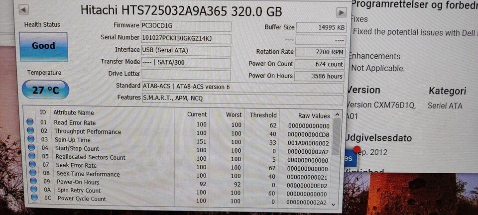 Hitachi, 320 GB, God