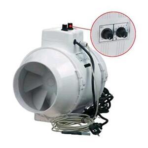 ASPIRATEUR hÉLICOÏDALE ÉVENTS TTUN150 0-520mc/h contrôle vitesse thermostat g