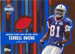 TERRELL OWENS ( RED ) PLAYER - WORN ( 2008 ) PRO BOWL JERSEY CARD ... 4a9e3d8c7