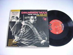 Gene-Krupa-Drummin-039-Man-1955-Mono-10-034-LP-VG