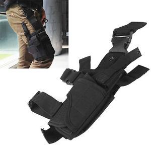 Tactical Drop Leg Holster Adjustable Puttee Thigh Pistol Pouch Gun Holster Bag