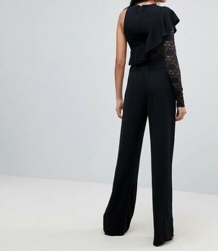 A 30 Missguided Tall One Sleeve Wide Leg Jumpsuit