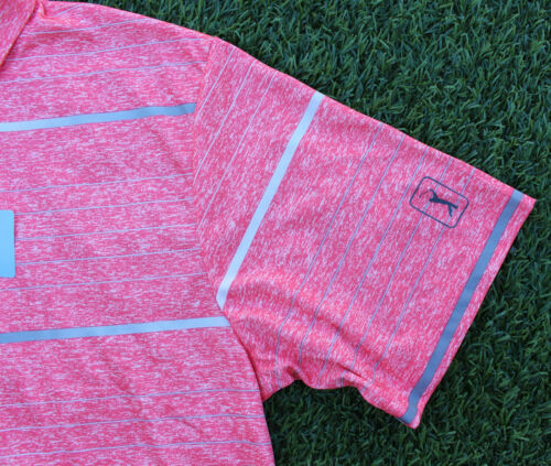 PGA Tour Men/'s Performance Polo Shirt Short Sleeve Active Top Calypso Coral $55