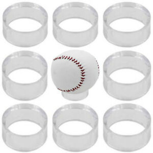 Details about 10 Clear Display Stand Holder For Baseball Softball Tennis  Billiard Bowling Ball