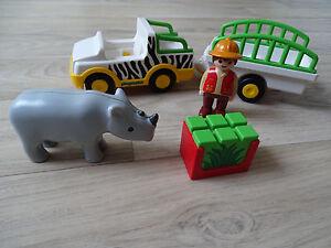 Playmobil 6743 Safari-Fahrzeug mit Nashorn Playmobil 1.2.3. wNEU - Deutschland - Playmobil 6743 Safari-Fahrzeug mit Nashorn Playmobil 1.2.3. wNEU - Deutschland