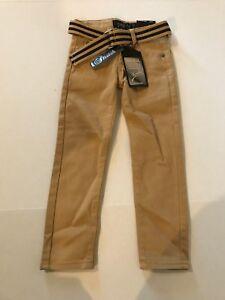 Kaalu-Euro-Premium-Denim-Boys-Khaki-Pants-Stretch-Straight-Leg-Skinny-Size-4