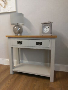 Image Is Loading Dorset Grey Painted Console Table Hallway Unit Telephone