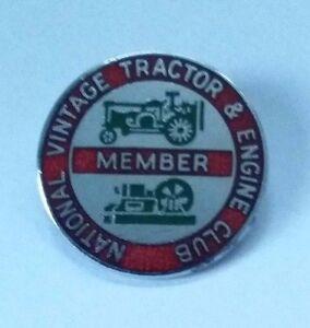 National Vintage Tracteur & Moteur Membre Du Club Badge Par Rev Gomm-afficher Le Titre D'origine Amener Plus De Commodité Aux Gens Dans Leur Vie Quotidienne