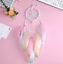 Attrape-Reve-Plumes-Dream-Catcher-Rose-Decoration-Bijoux-des-Lys miniatura 1