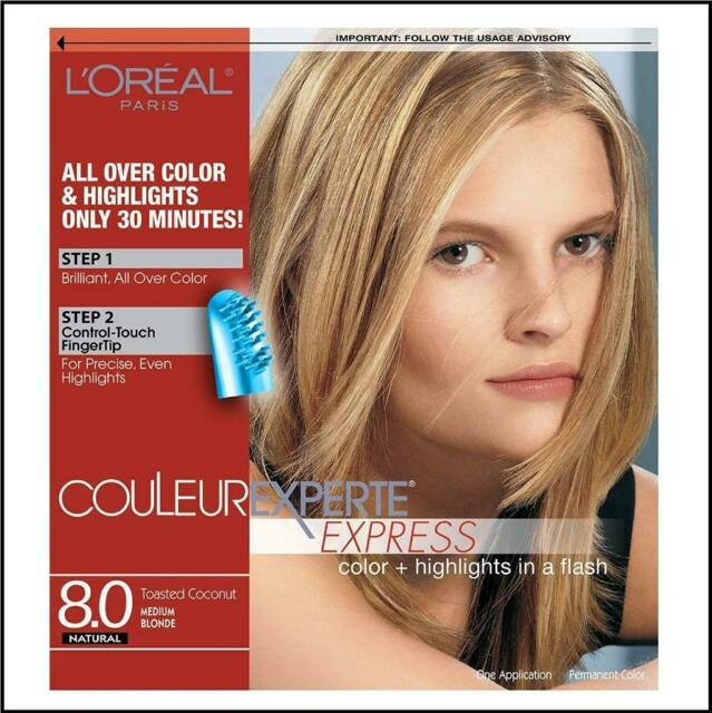 Loreal Couleur Experte Express 8.0 Toasted Coconut Medium Blonde Natural