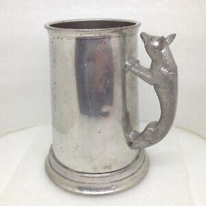 Vintage-Cromwell-Sheffield-England-Wolf-Handle-Pewter-Tankard-Mug-Stein
