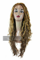 Long Curly Wavy Synthetic Lace Front Stream Wig Heat Resistant