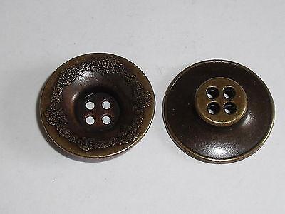 6 Stück Metallknöpfe Knopf Knöpfe Trachten 28 mm altmessing NEU rostfrei #830.2#