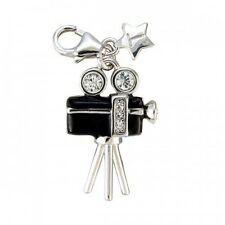 TINGLE LONDON MOVIE CAMERA SILVER CHARM, BAG New, Charms, SCH69, Jewellery,Boxed