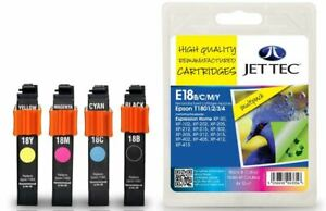 Jettec T1801/2/3/4 Multipack Compatible Ink Cartridge for Epson - E18B/C/M/Y
