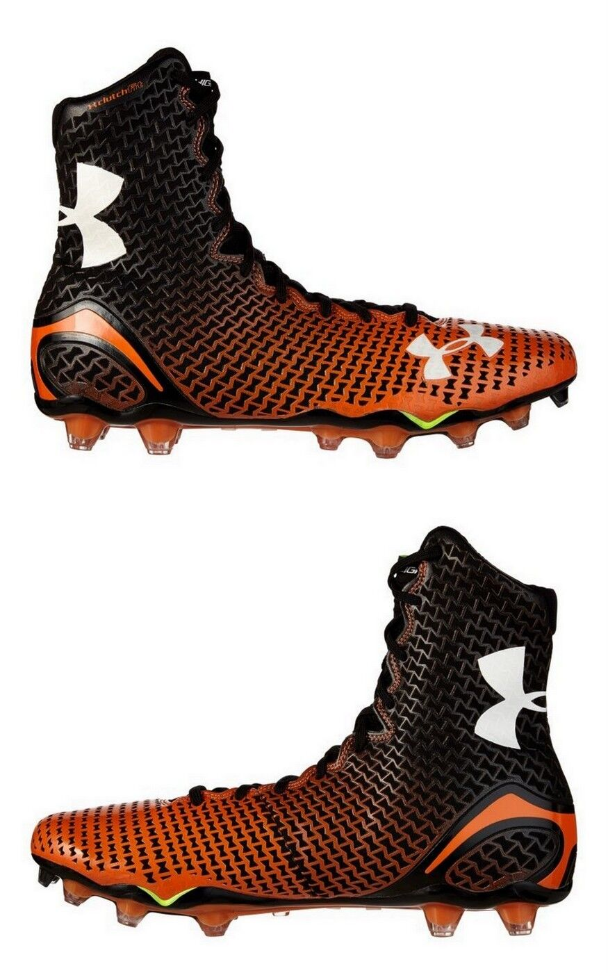 Under Armour Men's UA Highlight MC Football Cleats 1246123-081, Orange/Black, 15