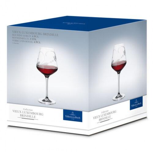 4 Weingläser Vino Rot Vieux Luxemburg brindille VILLEROY /& BOCH