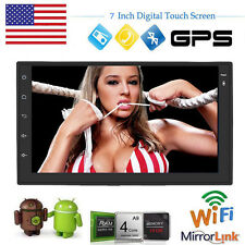 """QUAD-CORE Double 2Din HD Android 4.4 Car Stereo Radio 7"""" Touch GPS USB NO DVD HD"""
