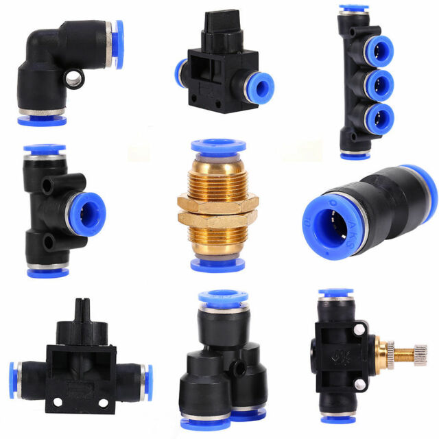 6-12mm Dia Pneumatic Push In Fitting Air Valve Water Hose Pipe Connector Joiner