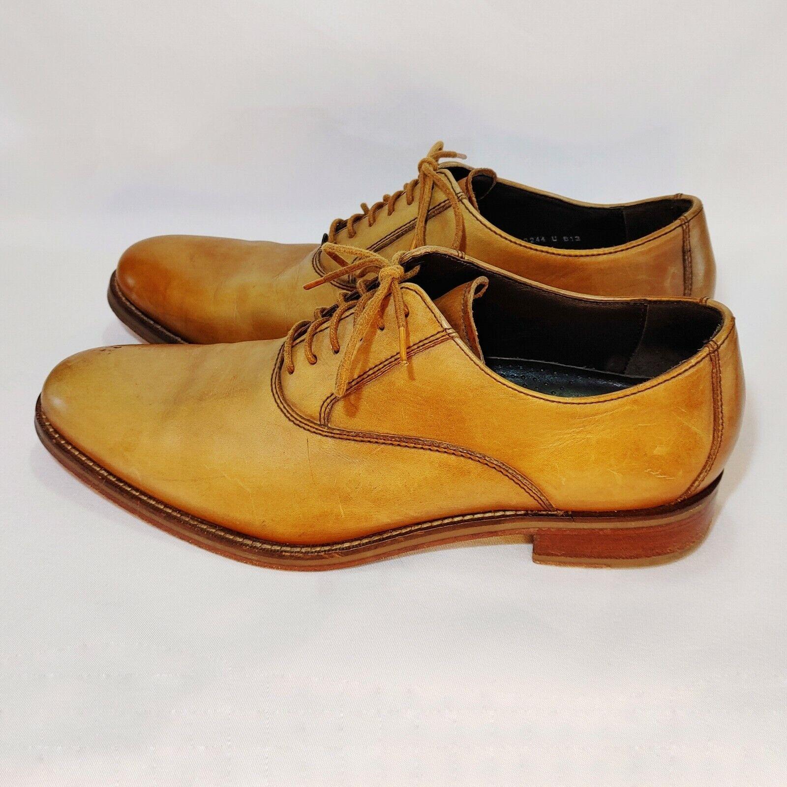 Cole Haan NikeAir C10244 Mens Tan Cap Toe Oxford Madison Shoes Sz 9M Embellished