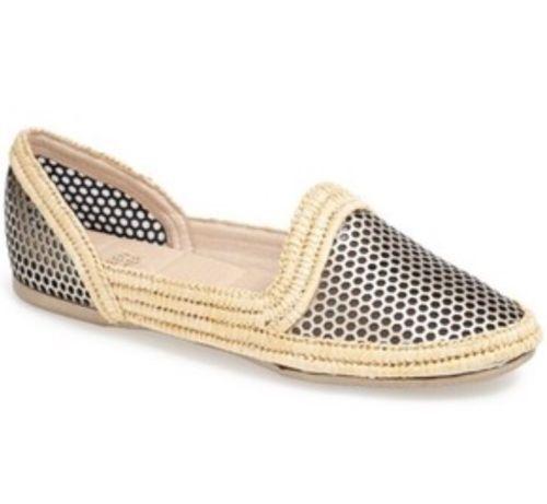 saldi Eileen Fisher Fisher Fisher 6.5 fit like 6 Flats  scarpe Platinum  Leather & Canvas   199 NEW  prezzo ragionevole