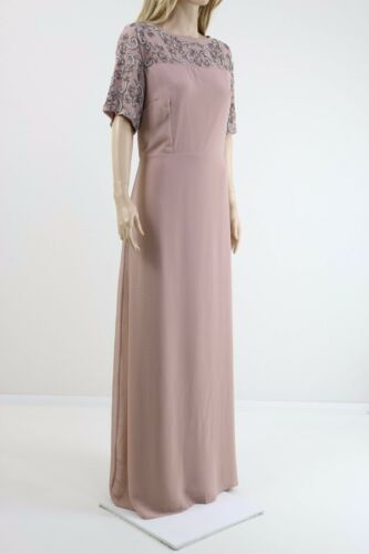 Lovedrobe Rose Luxe Embelli Détail Maxi Robe Avec Mousseline Jupe UK 20,22