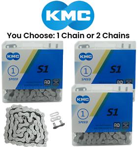 "1 or 2-PAK KMC S1 RB 1//8/"" Singlespeed BMX Fixed Gear Bike Rustbuster Chain 112L"