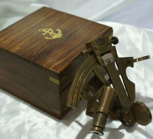 Sestante con stile antico nautico navigazione marittima scatola di legno il