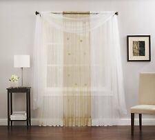 "DreamHome - Butterfly, Rod Pocket Sheer 84"" Panel, White"