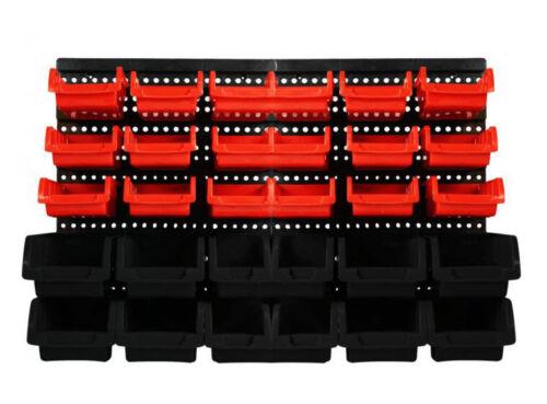 Lagersichtkästen Werkstatt Wandregal Stapelboxen Lagerboxen Set 32-tlg 607700