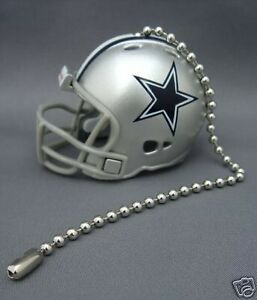 Details About Dallas Cowboys Ceiling Fan Light Pull Chain Nfl Football Helmet