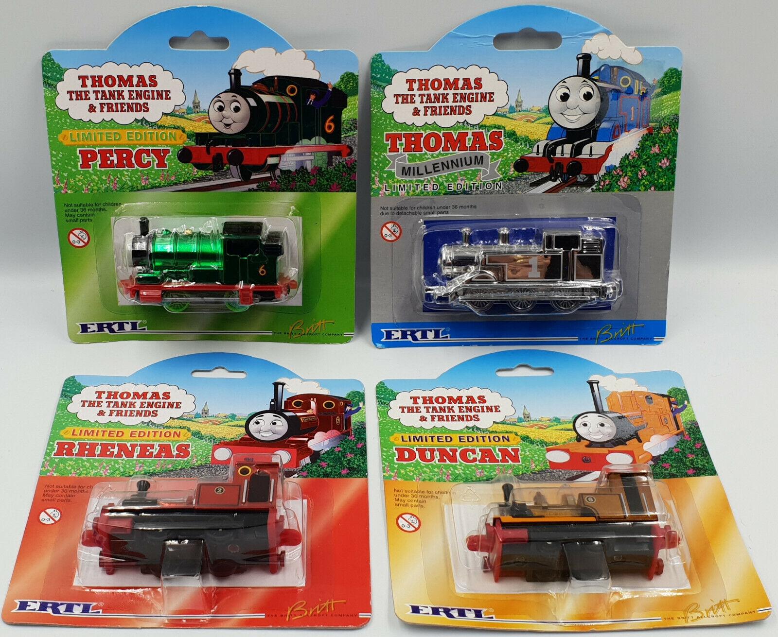 THOMAS THE TANK ENGINE   PERCY, THOMAS, RHENEAS, DUNCAN LIMITED EDITIONS (DRMP)