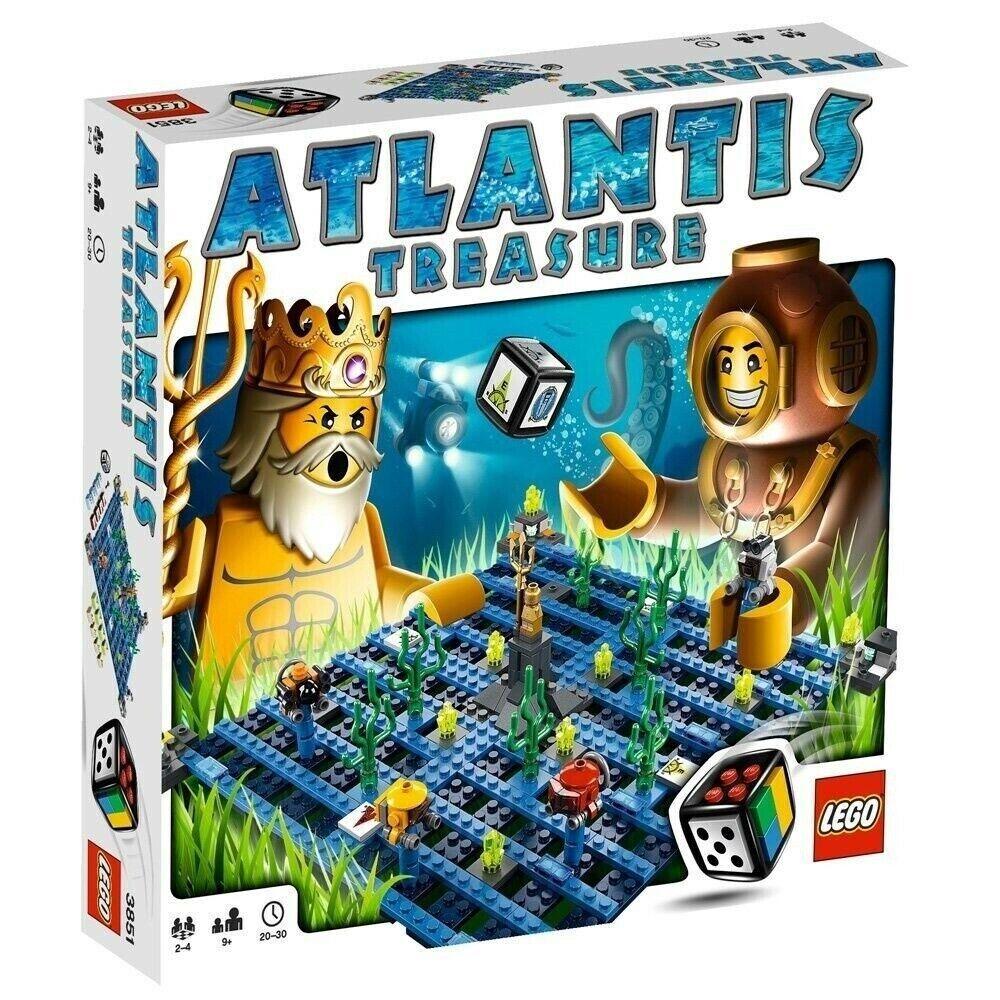 LEGO -  Lego giocos - Atlantis Treasure BNIB RARE, RETIrosso  - 3851 BNIB  presa
