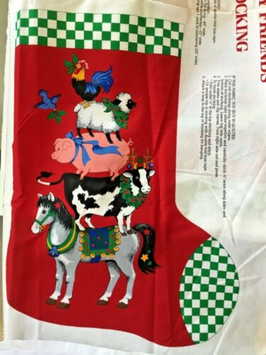 Retro//Vintage VIP Cranston Print Works USA SEW Christmas Stocking panel