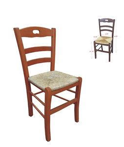 Imperdibile sedia in legno impagliata da cucina fondello in paglia ...