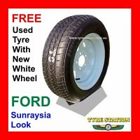 Sunraysia Look 15x6j Ford Hub Boat Trailer Wheel With Free Secondhand Tyre