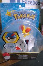 Pokemon Tomy Throw 'N' Pop Poke Ball Pokeball Fennekin Figure Great Super Ball